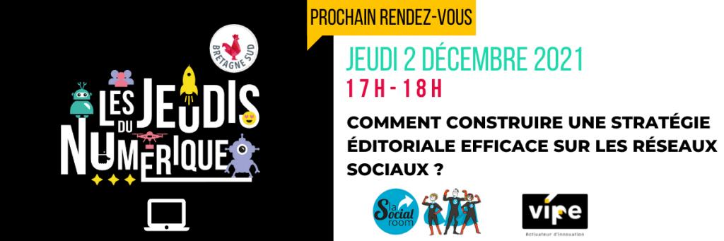 Jeudis Du Numerique Strategie Editoriale Reseaux Sociaux 2 Decembre 2021