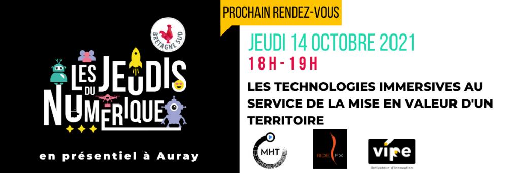 Jeudis Du Numerique Technologies Immersives Au Service Du Territoire